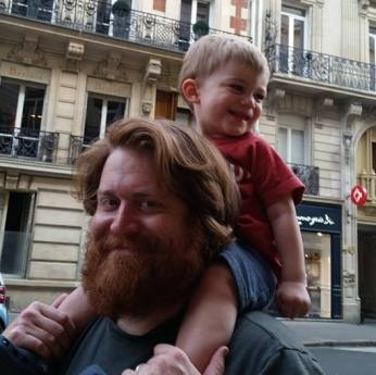 With Daddy in France.
